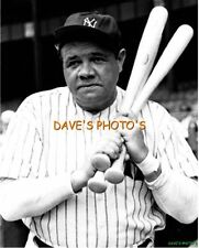 Nice B&W BABE RUTH 8X10 PHOTO Free Shipping