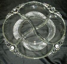 Tear Drop Duncan Miller Clear Glass Company 4 Part Relish Serving Bowl Rare