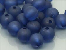 50x frosted Acrylperlen matt Kugel nachtblau 8mm ac059