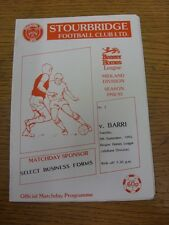 08/09/1992 Stourbridge v Barri  . Item appears to be in good condition unless pr