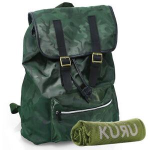 Kuru Kuru クールクール Throb Backpack Bag Camou Green+FREE P399 Magic Cooling Towel
