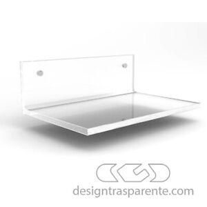 Mensola  Plexiglass trasparente per doccia varie misure + COPRIVITE..
