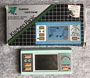 Kitchen Panic : Gakken : Handheld LCD Card Game : Tested!