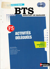 BTS ASSISTANT DE MANAGER / 2e ANNEE / ACTIVITES DELEGUEES F5 / NATHAN TECHNIQUE