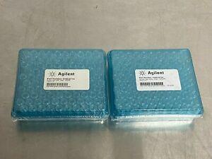 Lot of 2 Agilent 5182-0714 Screw Cap Vials Clear Qty:200 New Sealed