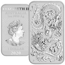 Australien - 1 Dollar 2020 - Drache - Rechteck-Anlagemünze - 1 Oz Silber ST