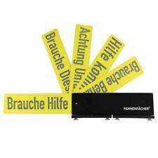 Pannenfächer Schilder-Fäche Warndreieck Schwarz-Gelb 5 Hinweiskarten