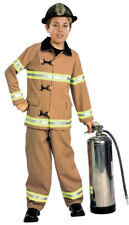 Kids Firefighter Fireman Child Costume Size Large