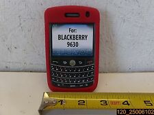 QTY=3, Red Silicone Gel Skin Case Cover for BlackBerry Tour 9630 ZCB6309R