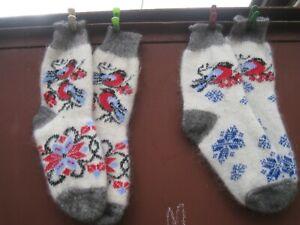 SOCKS homemade 100% natural RUSSIAN goat down yarn craft Cashmere