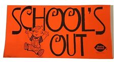 Dairy Queen Vintage 1972 Dennis the Menace School's Out Advertising Sign