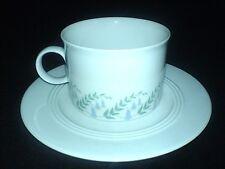 Friesland Melitta Germany White/Blue Bell Flowers Cup+Saucer x1 c1980 (6 set ava