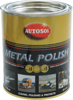 Autosol Metal Polish Paste 750ml Tin Solvol Chrome Aluminium Cleaner 0402