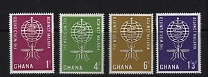 Ghana Postage Stamps 1962 Fight Against Malaria Set MNH VF+ (4v).