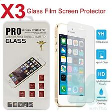 3x Premium Real Tempered Glass Film Screen Protector for Apple iPhone 5 SE 5S