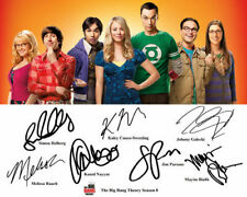 the Big Bang Theory Jim Parsons Kaley Cuoco Cast Signed Photo Autograph Reprint