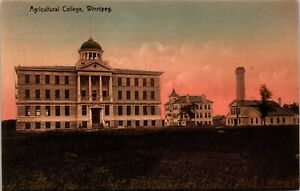Postcard MB Winnipeg Agricultural College Building ~1910 M65