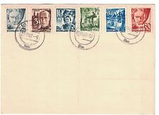 Germany 6N1 - 6N3 - 6N6 - 6N7 & 6N12 -  Postcard. Used. Tear. #02 GERM6N1