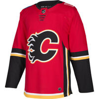 Calgary Flames Adidas Authentic Home NHL Hockey Jersey Size 54