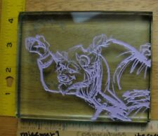 Disney Animation glass etching art signed Beast Robert Guenther 135/1000 HTF