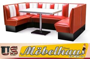 HW-240 American Diner Bench Corner Seat Furniture 50´S Retro Fiftie USA Styl