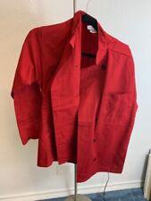 Uncommon Threads Chef Jacket Coat 0405 Red Medium