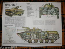 Authentic Soviet USSR military poster infantry tracked fighting vehicle BMD-1