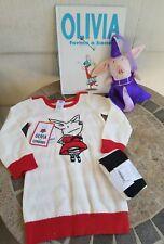 2T Ian Falconer Gymboree Knit dress Tights Plush Toy SET