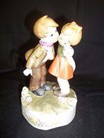 vintage Berman and Anderson Porcelain Boy & Girl Figurine Music Box