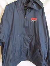 VTG HARVARD SQUARE  Tennis Blue Windbreaker Zip Warm Up Jacket XLARGE XL NOS