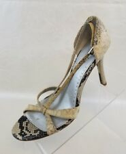 Charles by Charles David Sandals Open Toe Heels Snake Print Womens Shoes Size 10