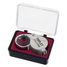 10 fach Juwelier Lupe Handlupe Vergrößerungsglas Einschlaglupe Taschenlupe 10x
