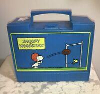 Vintage PEANUTS  Snoopy & Woodstock Blue Lunch Box