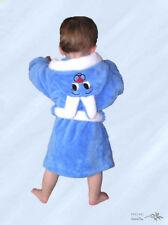 *Süss* Baby - Kinder Bademantel Blau mit Kapuze Kuschelweich