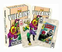 Marvel Comics 'VILLAINS - RETRO' Playing Cards Licensed Product Brand New