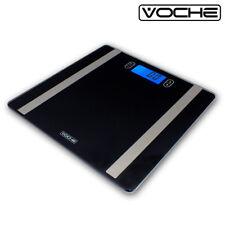 VOCHE® ULTRA SLIM BLACK GLASS ELECTRONIC LCD DIGITAL BODY ANALYSER BMI SCALES