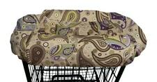 The Peanut Shell Shopping Cart Cover Devon Brown Purple Paisley Baby Infant