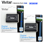 2x Vivitar HIGH POWERE EN-EL15B Battery for Nikon D780 DSLR CAMERA SAME DAY SHIP