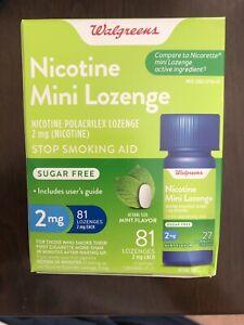 Walgreens Nicotine Mini Lozenge 2 Mg 81 Count Mint Flavor  Compared To Nicorette