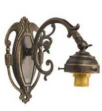 Applique lampada parete in ottone brunito stile vittoriano
