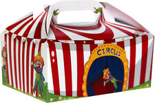 Kids Party FOOD BOXES lolly loot box Circus Tent design- 10 Pack