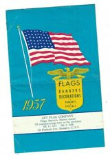 Flags Banners Decorations Booklet 1957 US 48 Star Flag Art Flag Company