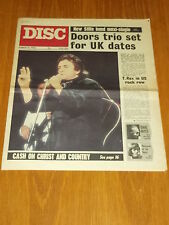 DISC AND MUSIC ECHO MARCH 11 1972 JOHNNY CASH DOORS ISAAC HAYES T.REX