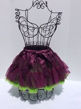 Kaya Eve Pettiskirt Tutu Size 12 Fits 6,7,8,10 Purple And Green