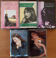 5x NANCI GRIFFITH CASSETTE TAPES JOB LOT BUNDLE ALBUMS COUNTRY FOLK POP ROCK