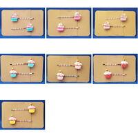 CUPCAKE Food - Handmade Bobby PIn Hair Clips - Set of 2 - You Choose Color SALE