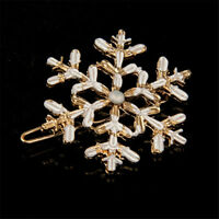 Decor Women Barrette Hairpins Snowflake Hair Clips Hair Pin Rhinestone Crystal