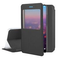 """Etui Coque Housse View Case Flip Folio Leather NOIR pour Huawei P20 Pro 6.1"""""""