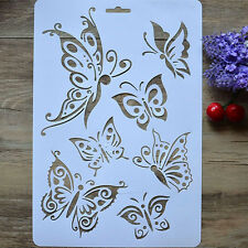 New DIY Craft Butterfly Stencils Template Painting Scrapbooking Stamps Album FT