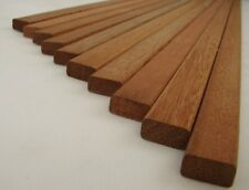 10 Rechteckleisten Bangkirai 10x20x1780mm Vierkantleisten Rankgitterleisten Holz